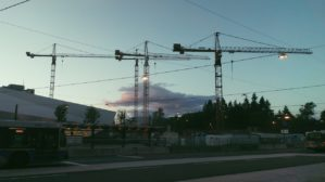 "Before capturing this photo, I was fascinated by the alignment of the cranes and how they peek through linked cables. Initially, when I think of ""lines"" I see boundaries, borders, constraints [...]"